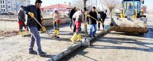 gürpınar belediyesinden çevre temizliği