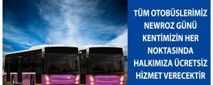 Van ücretsiz otobüs newroz