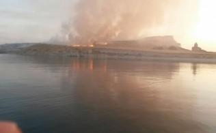 Çarpanak Adası'ndaki Yangın Söndürüldü